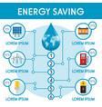 energy saving infographic flat style vector image