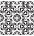 floral seamless pattern with black flowers vector image vector image