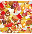food pattern feed ornament meat background pizza vector image