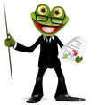 Frog in a suit vector image vector image