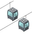 Funicular Cable Railway Isometric View vector image vector image