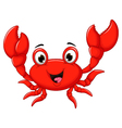 funny cartoon crab for you design vector image