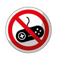 game control with denied sign vector image vector image