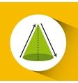 geometric figure design vector image