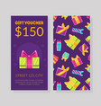 gift voucher template certificate or coupon with vector image
