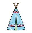 grated camp tribal and ethnic with ornamental vector image