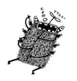 hand drawn sketchy monster with propeller vector image vector image