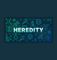 heredity outline colorful or vector image vector image