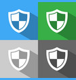 high security shield icon with shade on colored vector image vector image