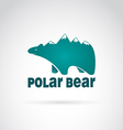 image of bear with mountains vector image