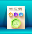 infographic web presentation concept vector image vector image