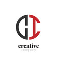 initial letter ci creative elegant circle logo vector image vector image