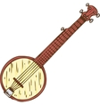 Isolated Wooden Banjo vector image