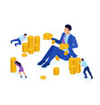 isometric businessman investing in a startup vector image