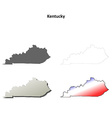 Kentucky outline map set vector image vector image