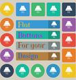Kitchen hood icon sign Set of twenty colored flat vector image vector image