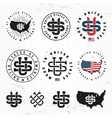 Made in USA monogram set Vintage America vector image vector image