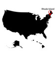 map of the us state of rhode island vector image vector image