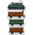 Old electric cargo train vector image vector image