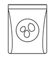 pack nuts icon outline style vector image vector image