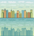 Panorama of cities vector image