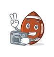 photography american football character cartoon vector image