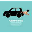 Pumping Fuel vector image