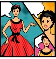 retro girl in pop art style vector image