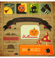 Retro Halloween Card vector image