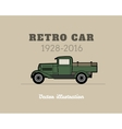 Retro pickup truck car vintage collection vector image vector image