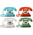 Retro telephones vector image