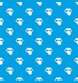 rock emblem pattern seamless blue vector image vector image