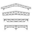 roofing buildingsteel frame cover roof truss vector image vector image