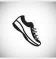 running shoes on white background vector image