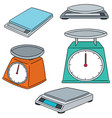 set of weighing machine vector image