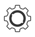 settings flat icon element of technical graphic vector image