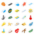 shoreline icons set isometric style vector image vector image