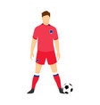south korea football uniform national team vector image