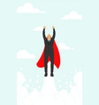 super hero business man wearing red cape manager vector image vector image
