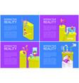 virtual interactive reality vector image vector image