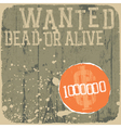 wanted rewards poster vector image vector image