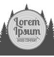 wood Service Emblem vector image