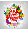 Merry Christmas Holiday with typography design vector image
