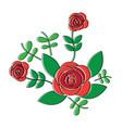 ornamental flower print icon image vector image