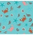 Seamless pattern with crabs vector image