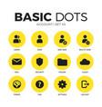 account flat icons set vector image
