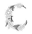 Abstract floral branch vector image