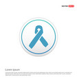 aids awareness ribbon sign or icon - white circle vector image