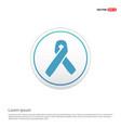 aids awareness ribbon sign or icon - white circle vector image vector image