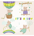baby bear set - shower or arrival card